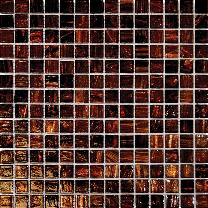 Sample Green Brown Crackle Glass Subway Mosaic Tile: Brown Iridescent Glass Mosaic Tile Sample Backsplash