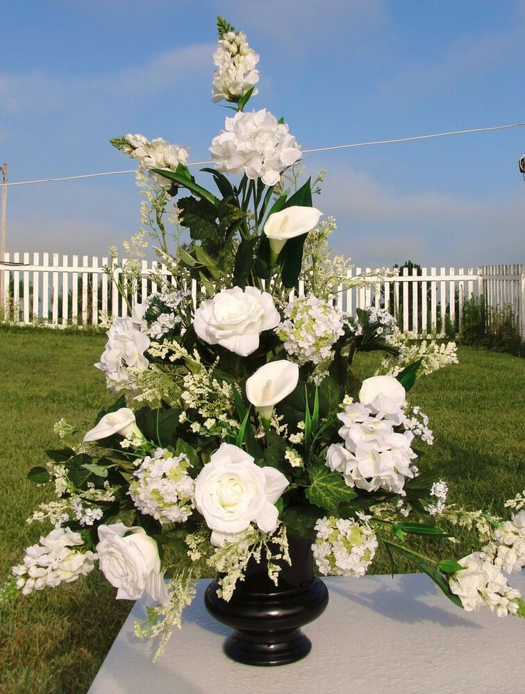 high end silk flowers church wedding altar urn vases bachlorette bridal showers ebay. Black Bedroom Furniture Sets. Home Design Ideas