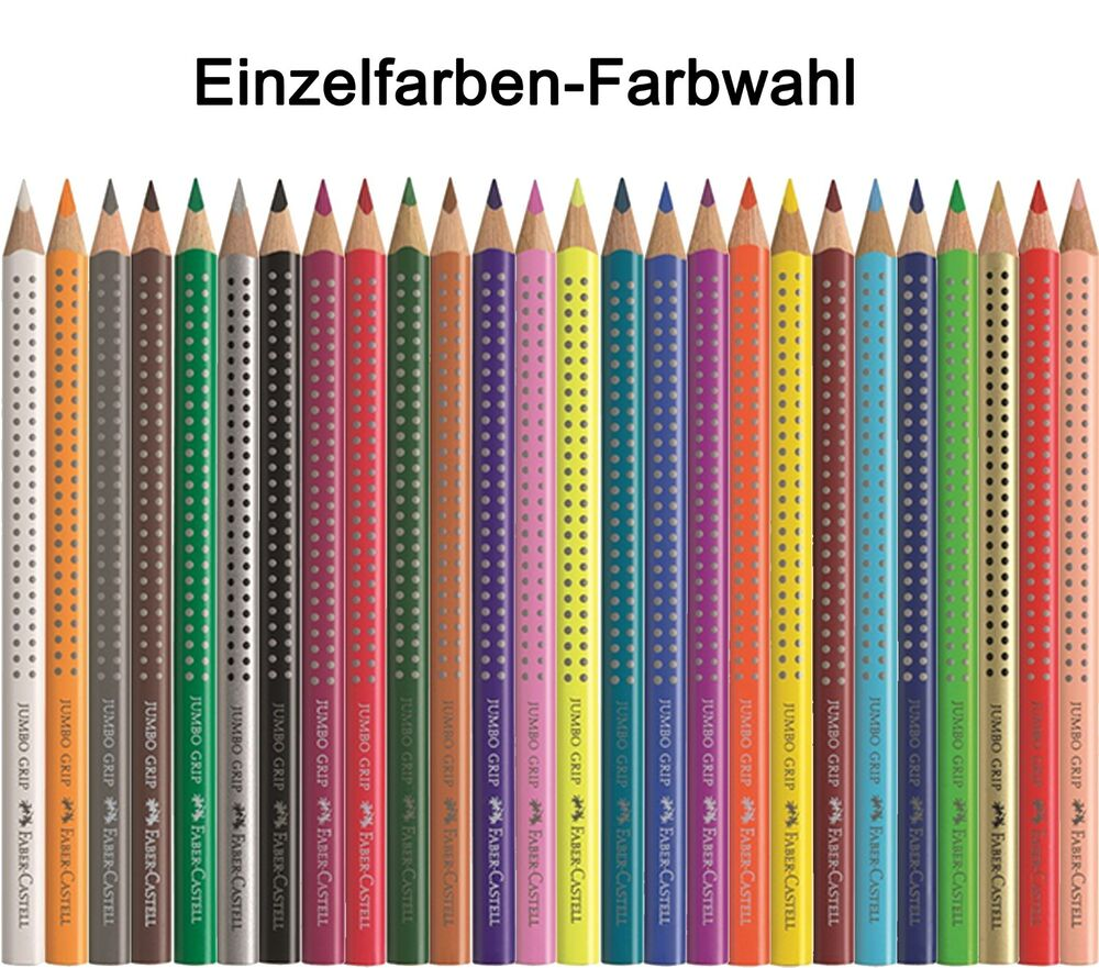 faber castell jumbo grip einzelfarbe farbwahl buntstift. Black Bedroom Furniture Sets. Home Design Ideas
