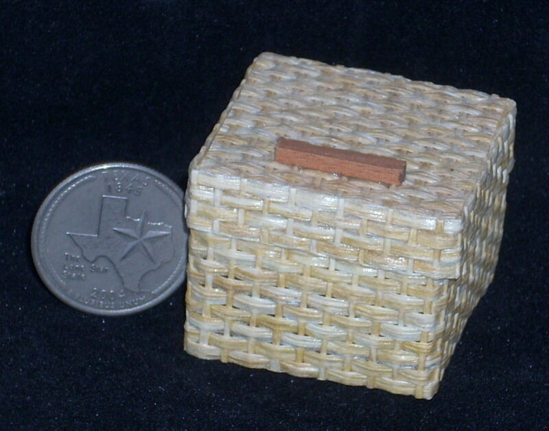 How To Weave A Mini Basket : Dollhouse miniature woven basket scale mexican import