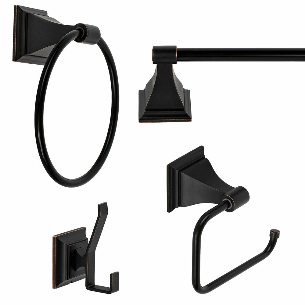 Oil rubbed bronze bath accessories 24 towel bar accessory - Rubbed oil bronze bathroom accessories ...