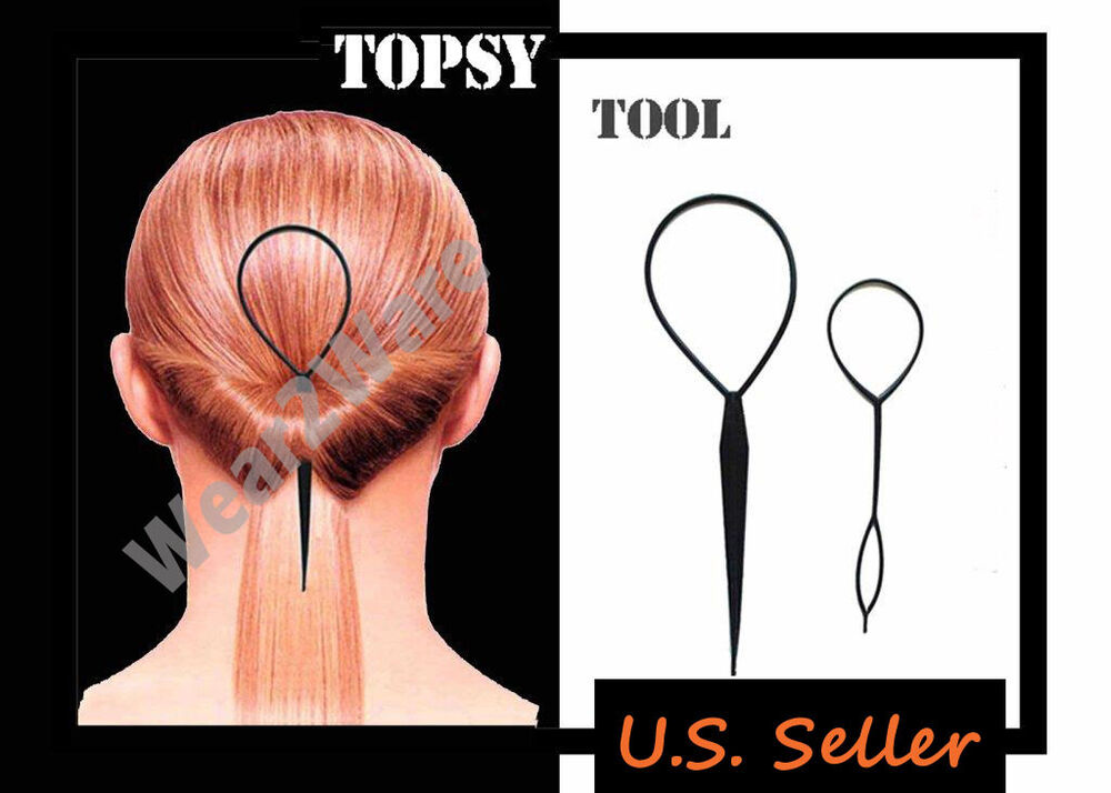 topsy hair braid ponytail maker styling tool topsy tool hair braid for ponytail topsytail topsy ebay 4968