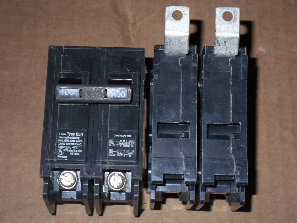ITE Siemens BLH B2100H 100 and 2 pole Circuit Breaker
