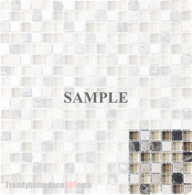 Sample Marble Green Brown Glass Linear Mosaic Tile: Sample Brown Stone Glass Mosaic Tile Kitchen Backsplash