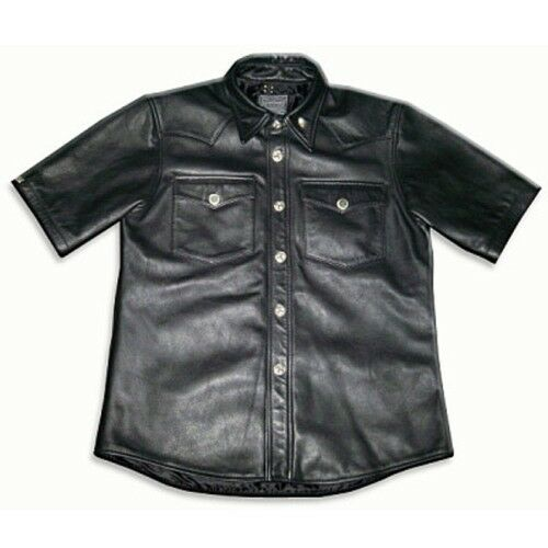 Black Leather Pullover Shirt – PULL1