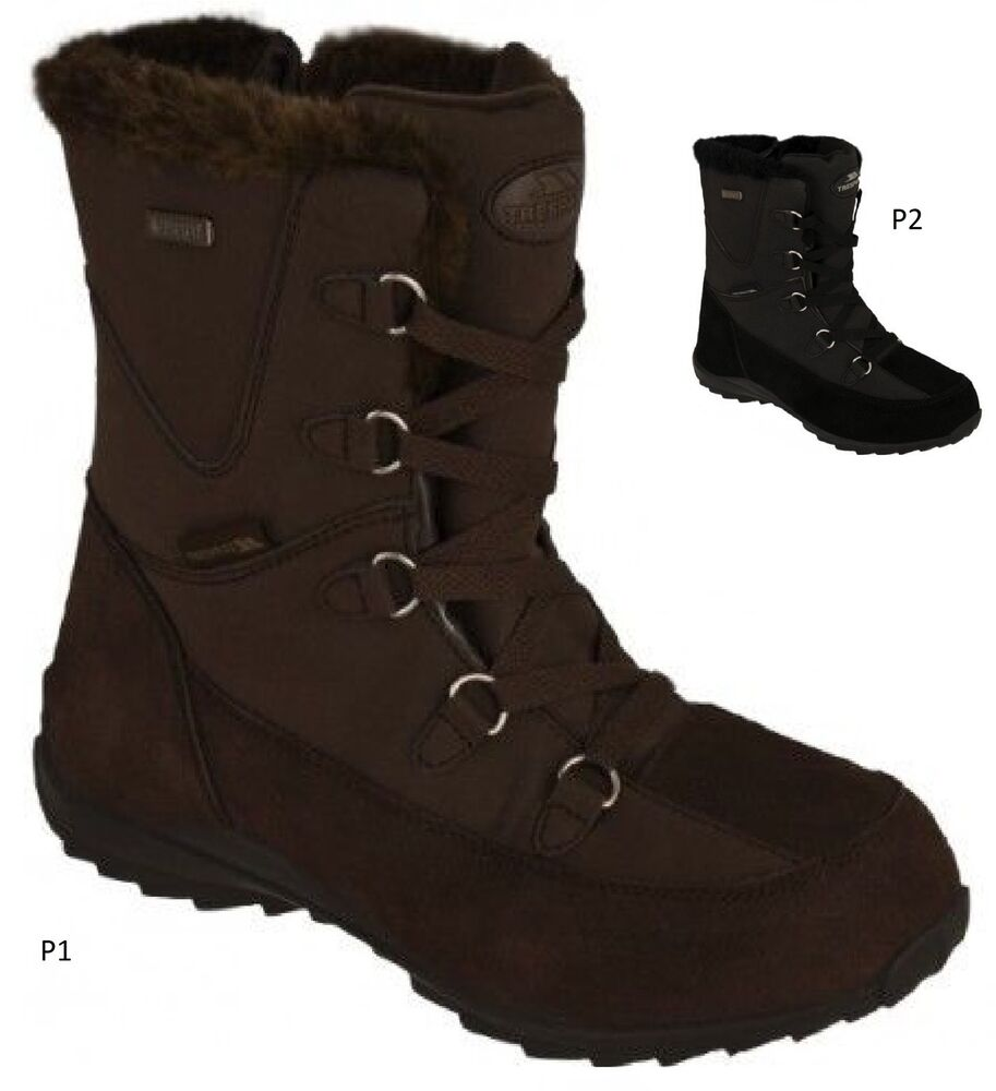 waterproof snow boots womens size uk 3 ebay