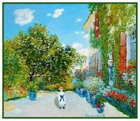 Impressionist Artist Monet's House in  Argenteuil Counted Cross Stitch Chart