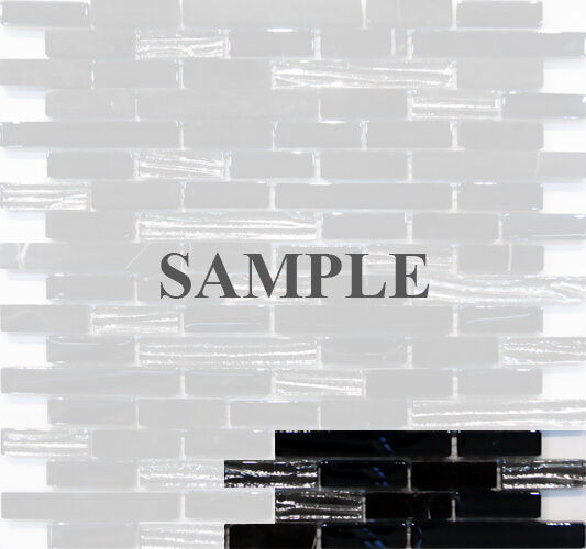 sample silver iridescent glass marble blend mosaic tile