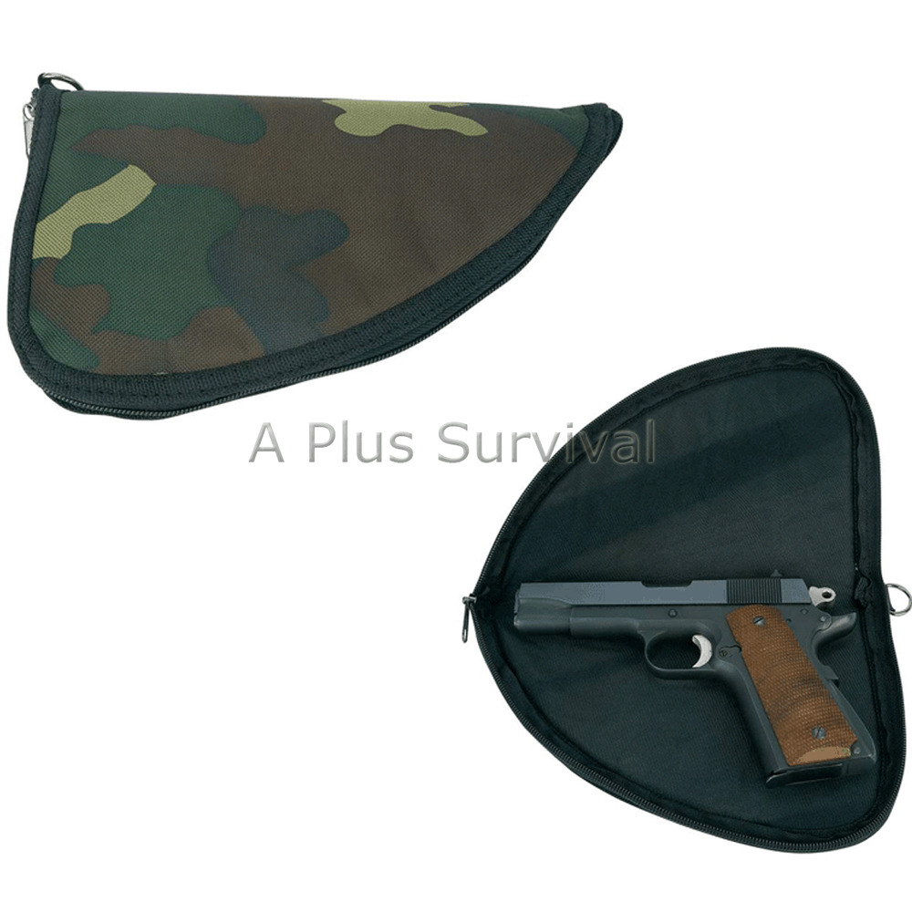 Camo Pistol Gun Rug Case Zippered Transport Container