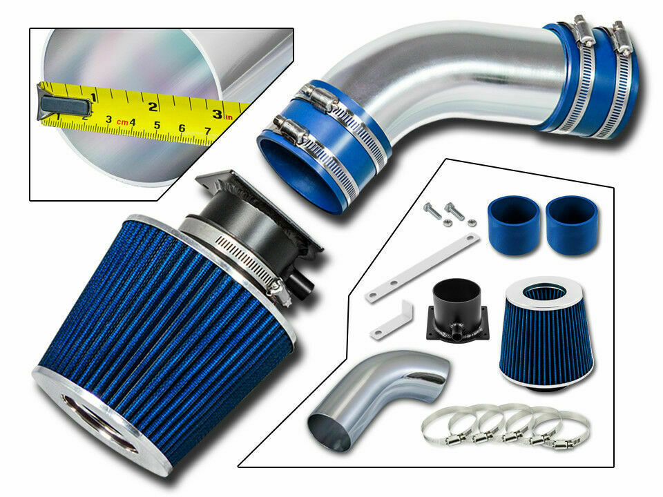 ram air intake kit blue filter for 96 00 audi a4 a6 2 8l. Black Bedroom Furniture Sets. Home Design Ideas