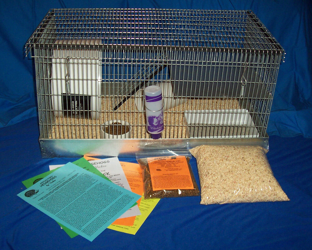 Hedgehog Supplies: DELUXE CAGE & SUPPLY SET UP | eBay Hedgehogs As Pets Cages