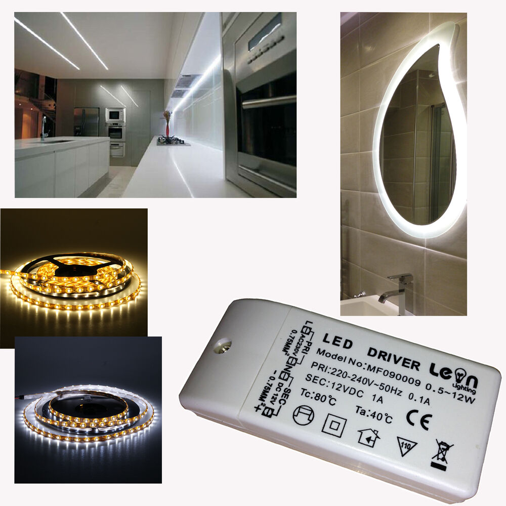 2x Led Under Cabinet Strip Lights 12w Led 12v Driver
