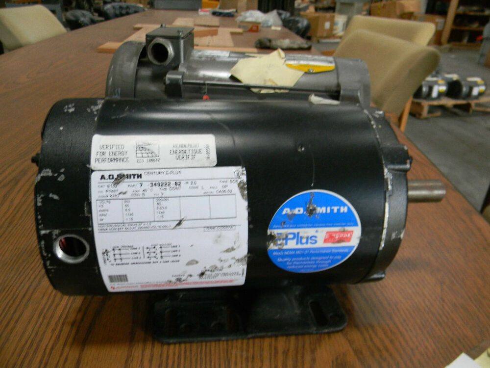 Ao smith 2 hp ac motor ebay for Ao smith ac motor 1 2 hp