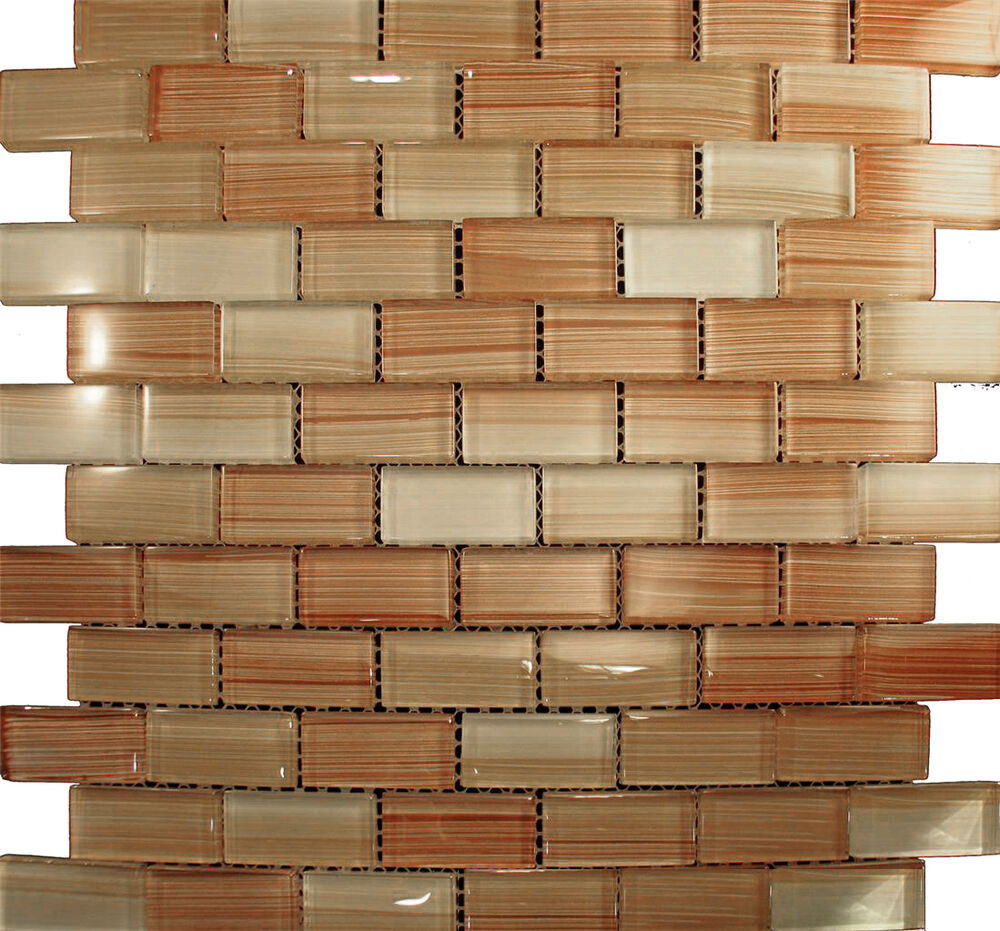 brick glass mosaic tile for kitchen backsplash bath sink ebay