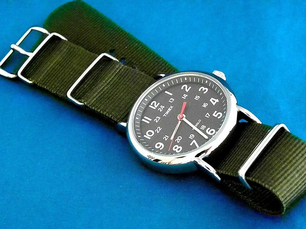 VINTAGE TIMEX MILITARY 60'S STYLE BLACK FACE 24 HOUR DIAL ...