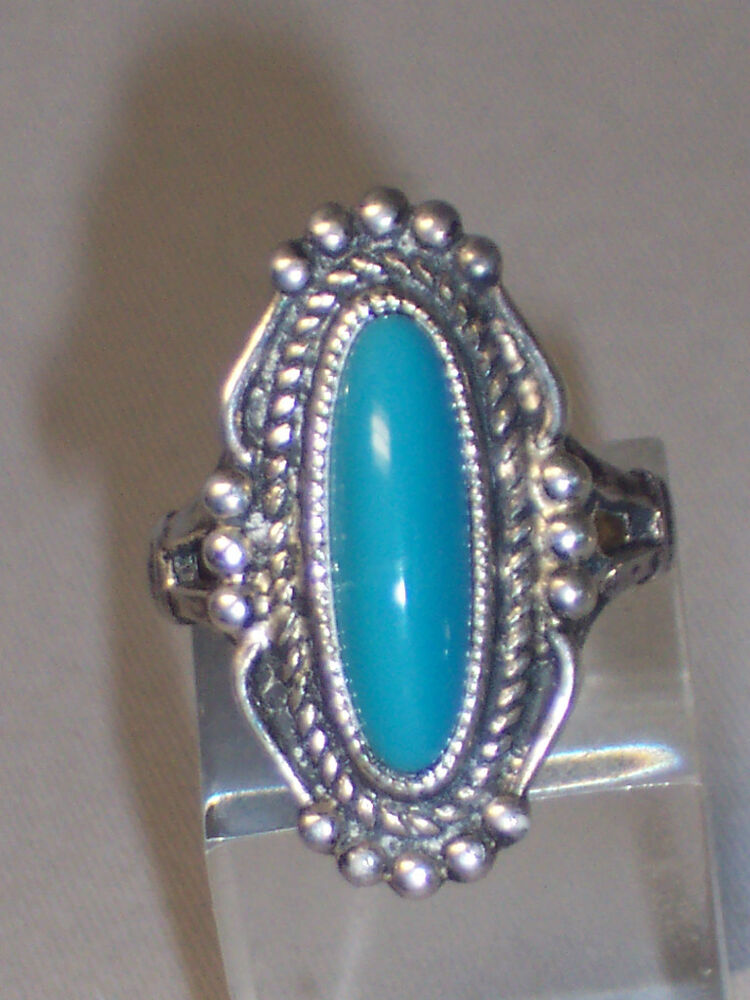 Vintage Sterling Silver Turquoise Ring Signed Espo Ebay