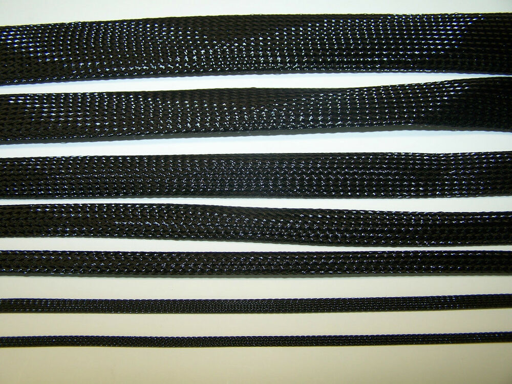 s l1000 black braided expandable flex sleeve wiring harness loom flexable wire harness cover at fashall.co