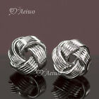 EARRINGS STUD 9K GF 9CT SOLID WHITE GOLD FILLED 8MM CUTE HIGH QUALITY BEAD