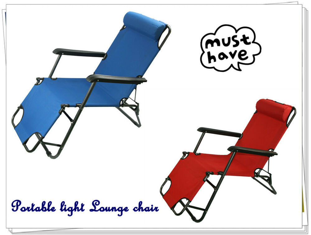 NEW light Portable Folding RECLINER Outdoor Lounge Chair ...