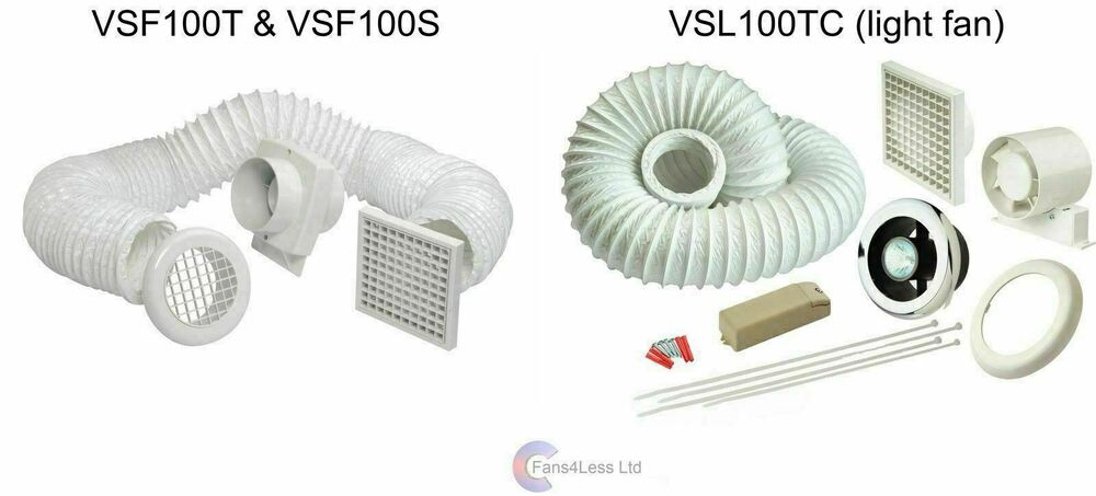 Vsf100t vsf100s vsl100tc light timer standard for 6 bathroom extractor fan with timer