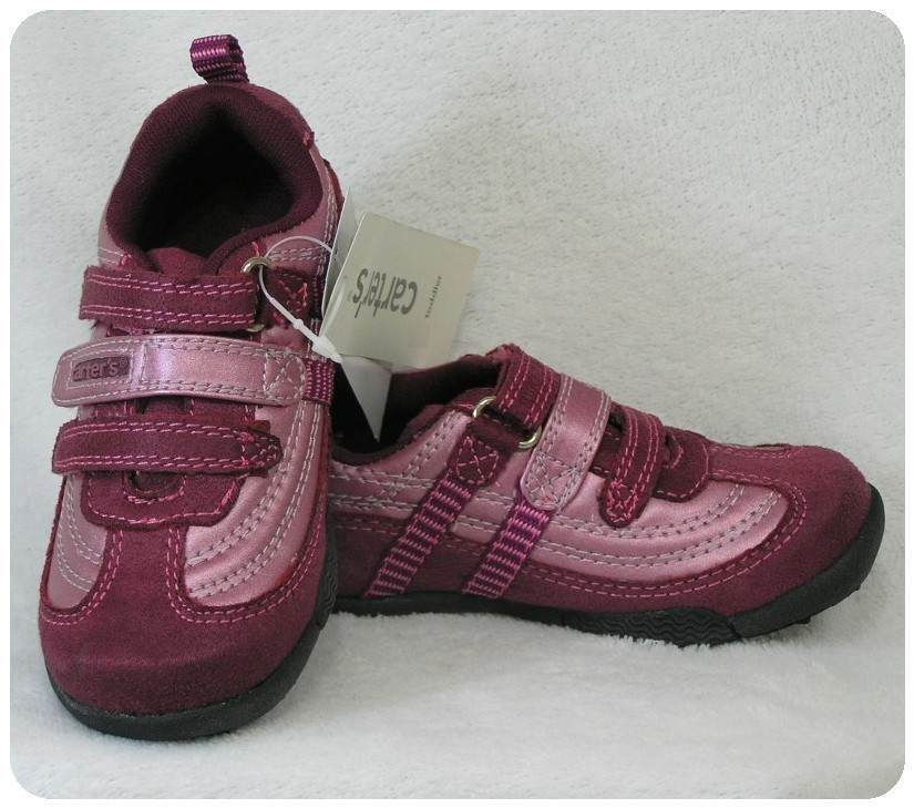 New Nwt Carters Shoes Baby Toddler Girls Casual Burgundy