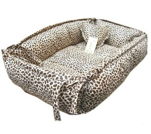 100 Cotton Handmade Leopard Print Pet Dog Cat Bed House