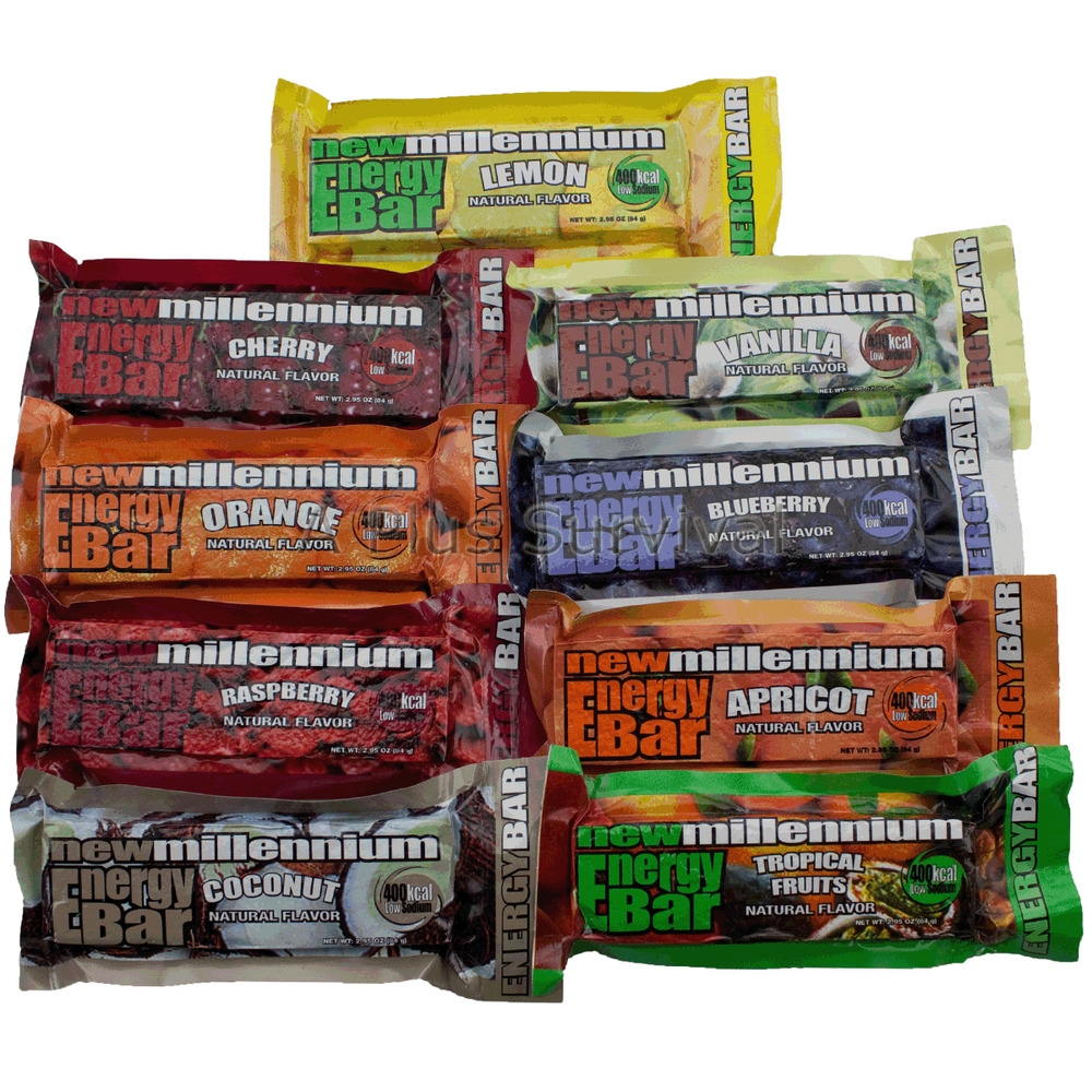 9 meal variety pack of emergency camping survival food for Food bar borca