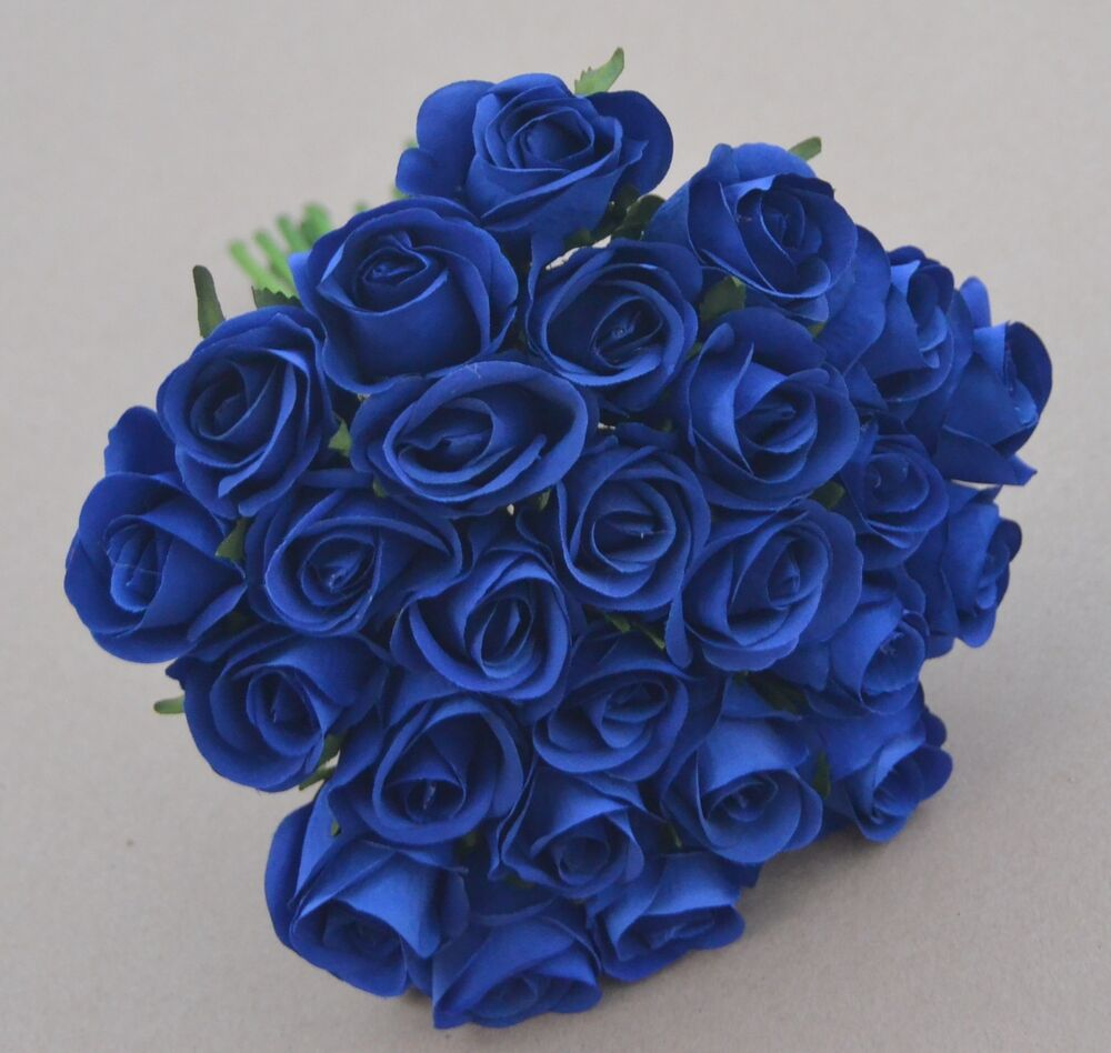 navy blue rose posy wedding bouquet artificial silk flower