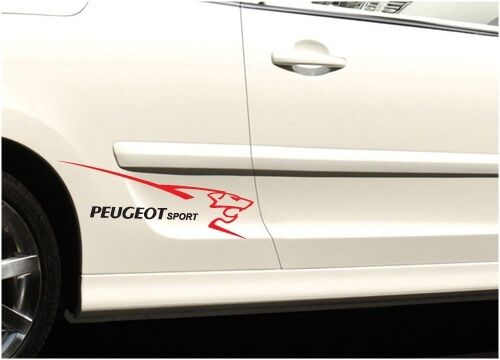 peugeot sport small 2 colour stickers graphics vinyl decals 107 206 207 308 ebay. Black Bedroom Furniture Sets. Home Design Ideas