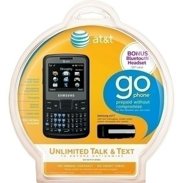 Samsung A177 AT&T GoPhone w/free bluetooth included 635753481518 ...