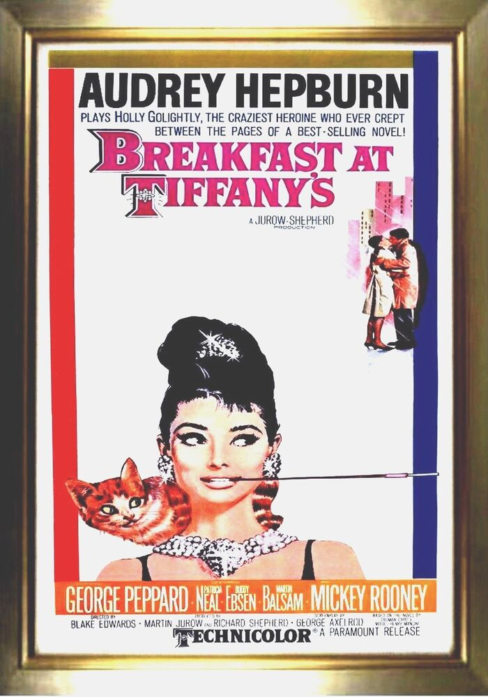 magnet vintage movie poster breakfast at tiffany 39 s audrey hepburn ships free ebay. Black Bedroom Furniture Sets. Home Design Ideas
