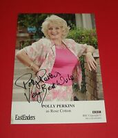 POLLY PERKINS GENUINE SIGNED AUTOGRAPH 6x4 CAST CARD EASTENDERS ROSE COTTON +COA