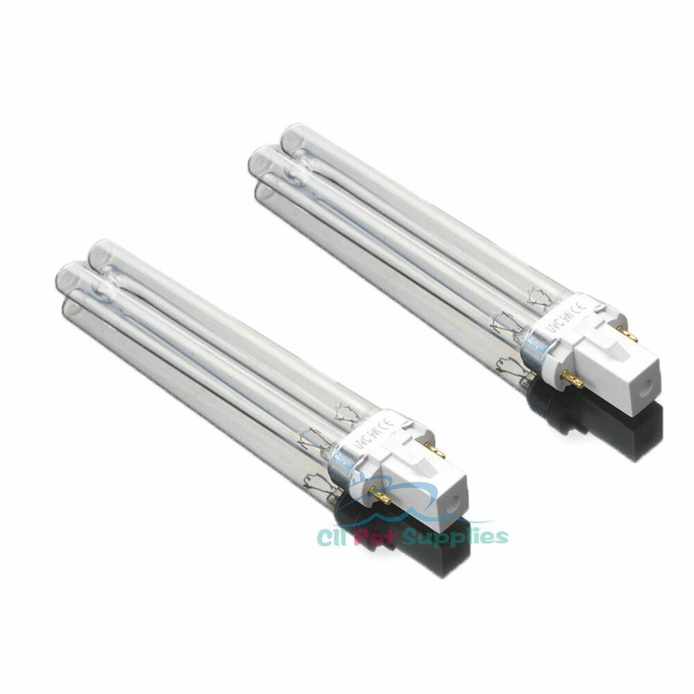 Uv Light Bulbs: 2 PCS UV Light Bulbs 9W Watt G23 Base for Aquarium UVC Sterilizer,Lighting