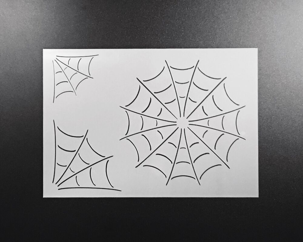 Spiderweb Stencil Airbrush Wall Art Craft Painting Home
