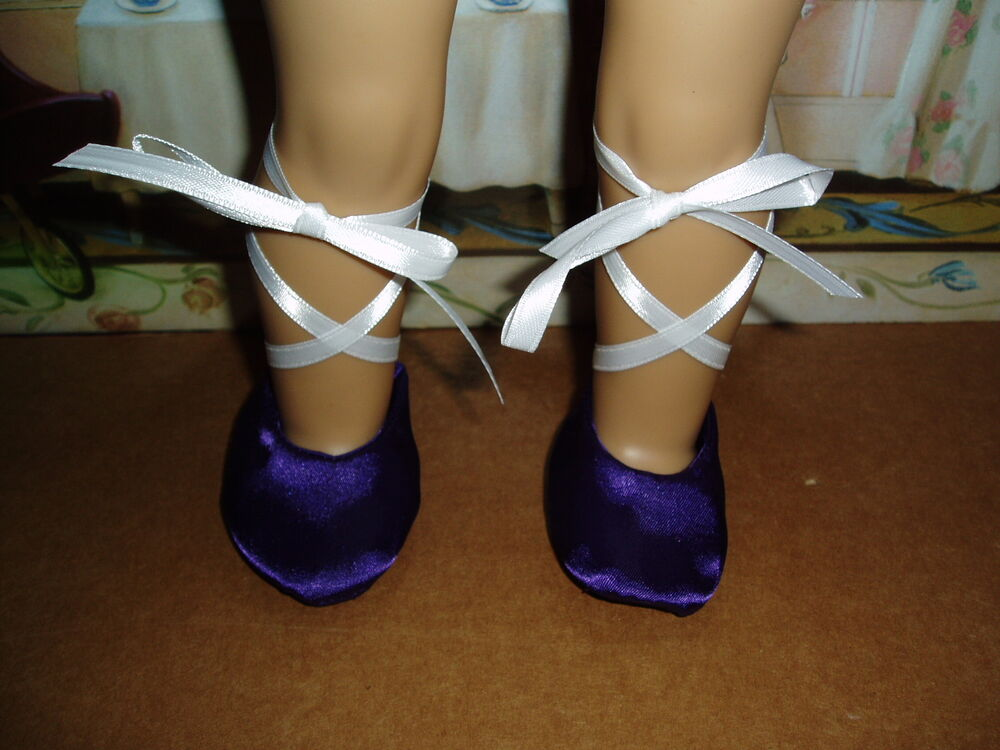 Purple Ballet Dance Shoes 18 Quot Doll Clothes Fits American Girl Amp 15 Quot Bitty Baby Ebay