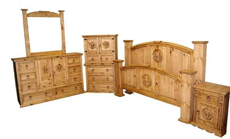 fleur de lis bedroom set real wood furniture 5 piece set 17026 | s l1000