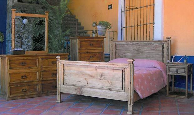 Rustic Promo Bedroom Set Western Cabin Lodge Real Solid Wood EBay