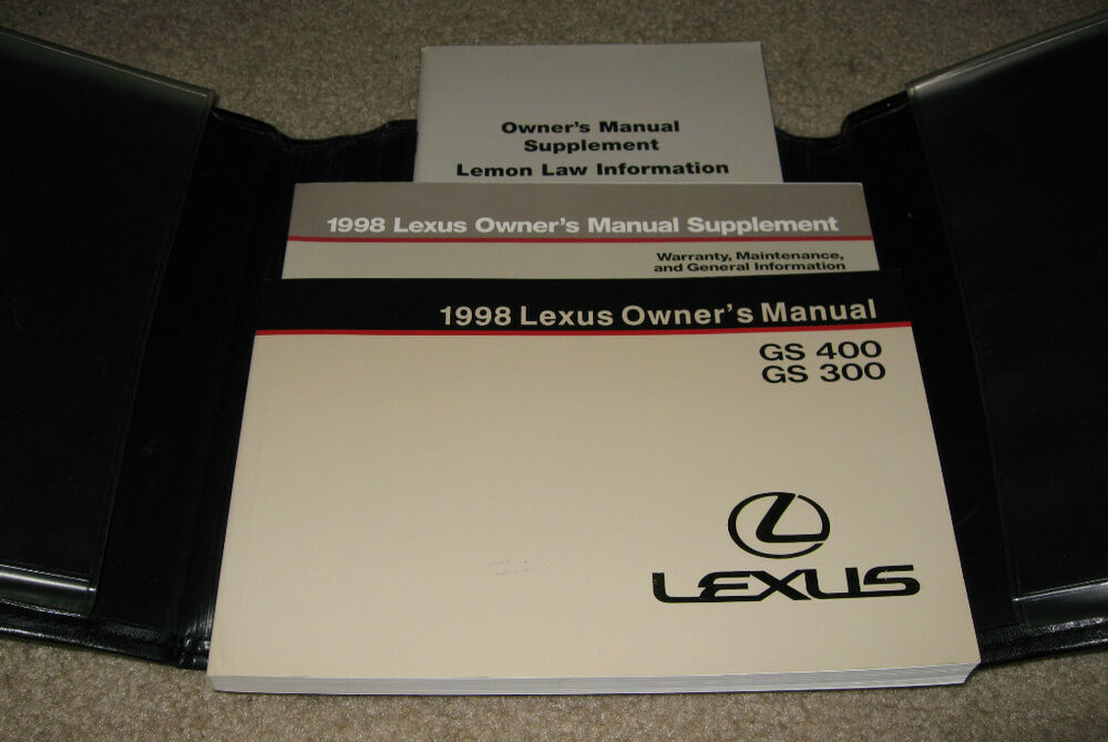 1998 lexus gs400 owners manual set 98 gs 300 400 w  case