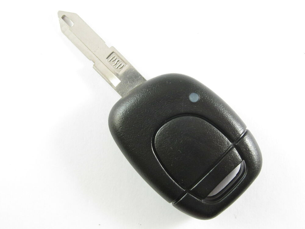 renault kangoo clio megane one button remote key fob with battery space ebay. Black Bedroom Furniture Sets. Home Design Ideas