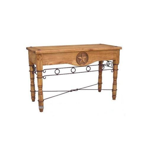 Rustic star sofa table with iron real solid wood western for Table western