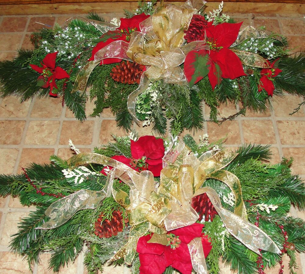 Christmas Grave Decorations Uk: Christmas Cemetery Tombstone Saddle Headstone Spray Grave