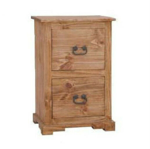 rustic 2 drawer file cabinet western real solid wood cabin