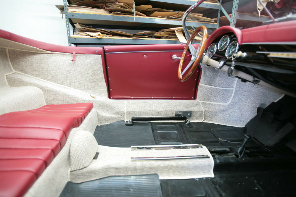Porsche 356 Speedster Original German Square Weave Carpet Kit Oatmeal Ebay