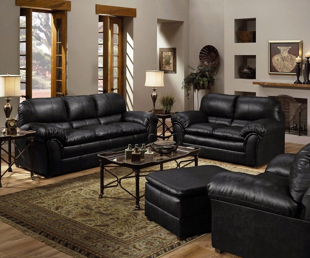 6152 Geneva Onyx Living Room Set 4 Piece Set Free Shipping EBay