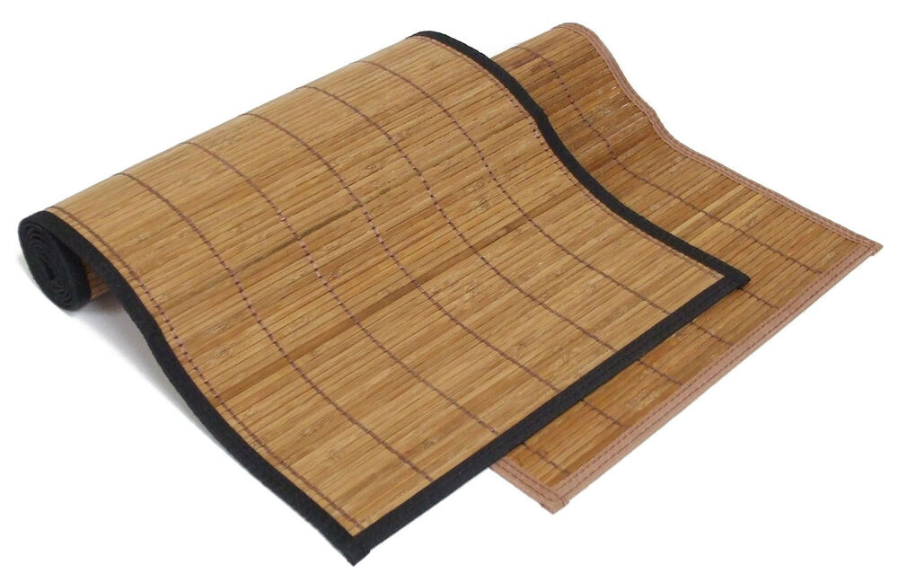 6 X6 72 Quot X72 Quot Brown Bamboo Floor Mat Area Rug Tatami Latex
