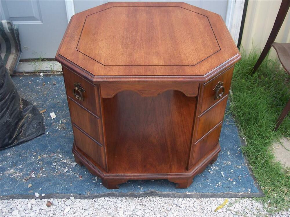 Octagon Side Table ~ Mahogany octagon end table side t ebay