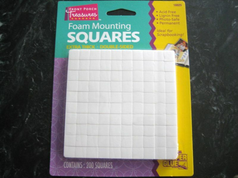 200 Foam Double Sided Adhesive Squares Scrapbooking 3d