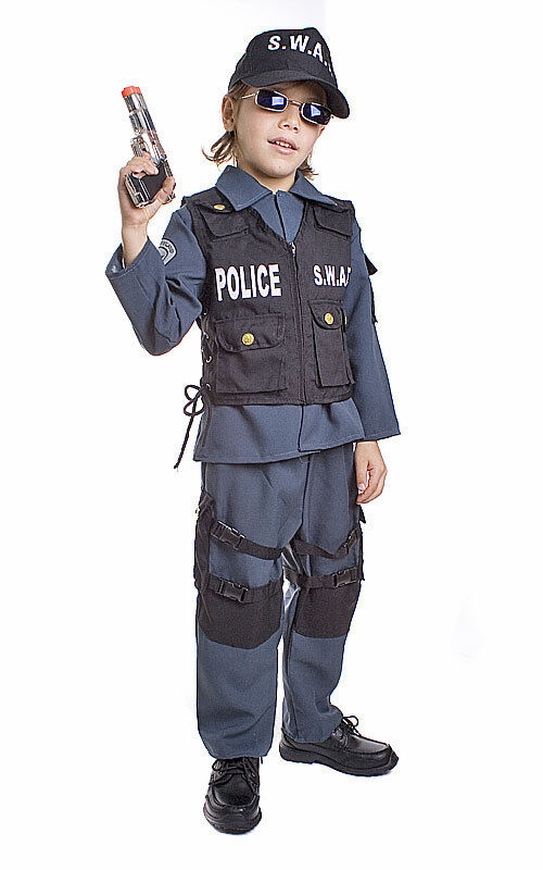 Deluxe swat police costume child ebay - Police officer child costume ...