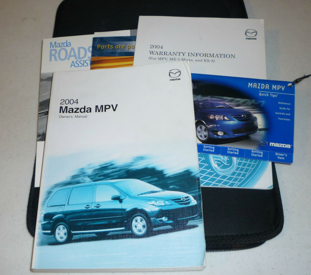 2004 Mazda Mpv Owners Manual Set 04 W Case Ebay border=