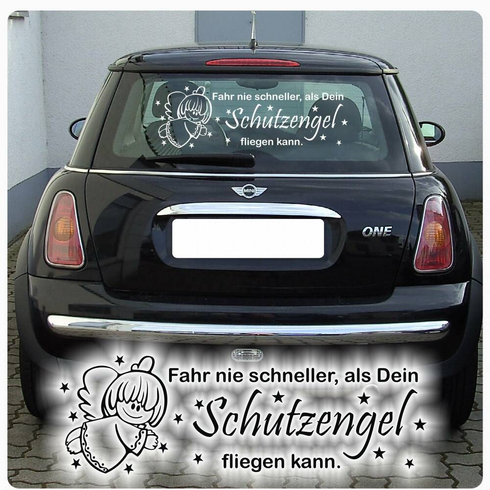 schutzengel auto aufkleber engel angel sterne sticker autoaufkleber a220 ebay. Black Bedroom Furniture Sets. Home Design Ideas